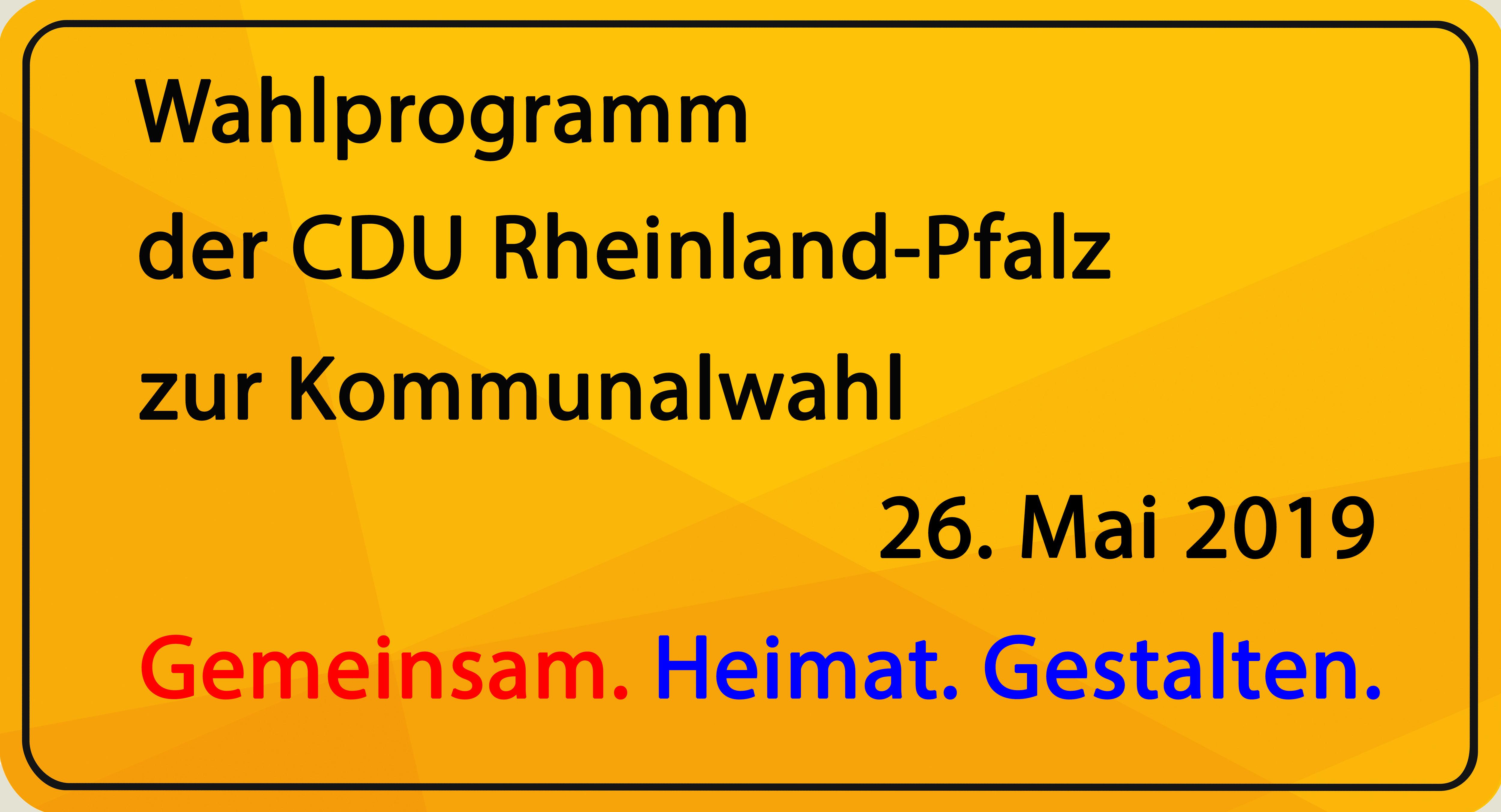 Wahlprogramm CDU Pheinland-Pfalz 2019